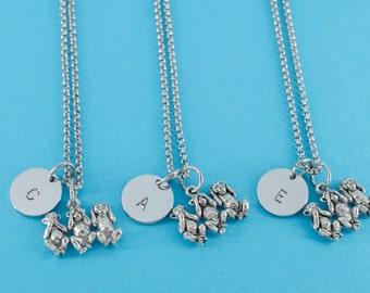 Three Monkey necklaces  Hear No Evil, See No evil, Speak No Evil best friend necklaces.  Three best friend necklaces.  Monkey necklaces.