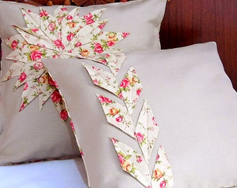 Pair Pillows   Set of 2 Pillow Covers   Decorative Pillow   Throw Pillow   Beige Pillow Covers    Cushion   shabby chic   Outdoor Pillows