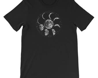 Moon Phases Short-Sleeve Unisex T-Shirt