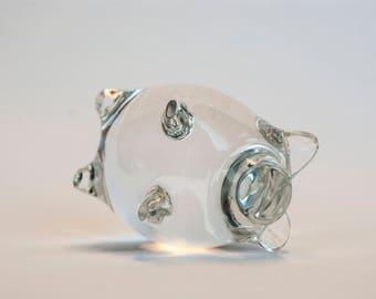 Glass piglet figurine