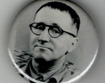 Bertolt Brecht Playwright Portrait 1.25 inch Button