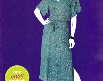 Simplicity 1988 Sew Simple pattern, uncut, misses' pullover dress in sizes 10-18