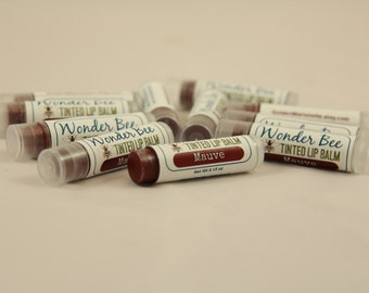Tinted Lip Balm Mauve 100% Natural // Lip Gloss // Lip Stain //Natural Lipstick