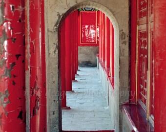 Colorful Art Travel Photography, Asian Art Print, Chinese Door Print, Red Door Wall Art, Doorway Print, Large Scale Art 16x20,Forbidden City