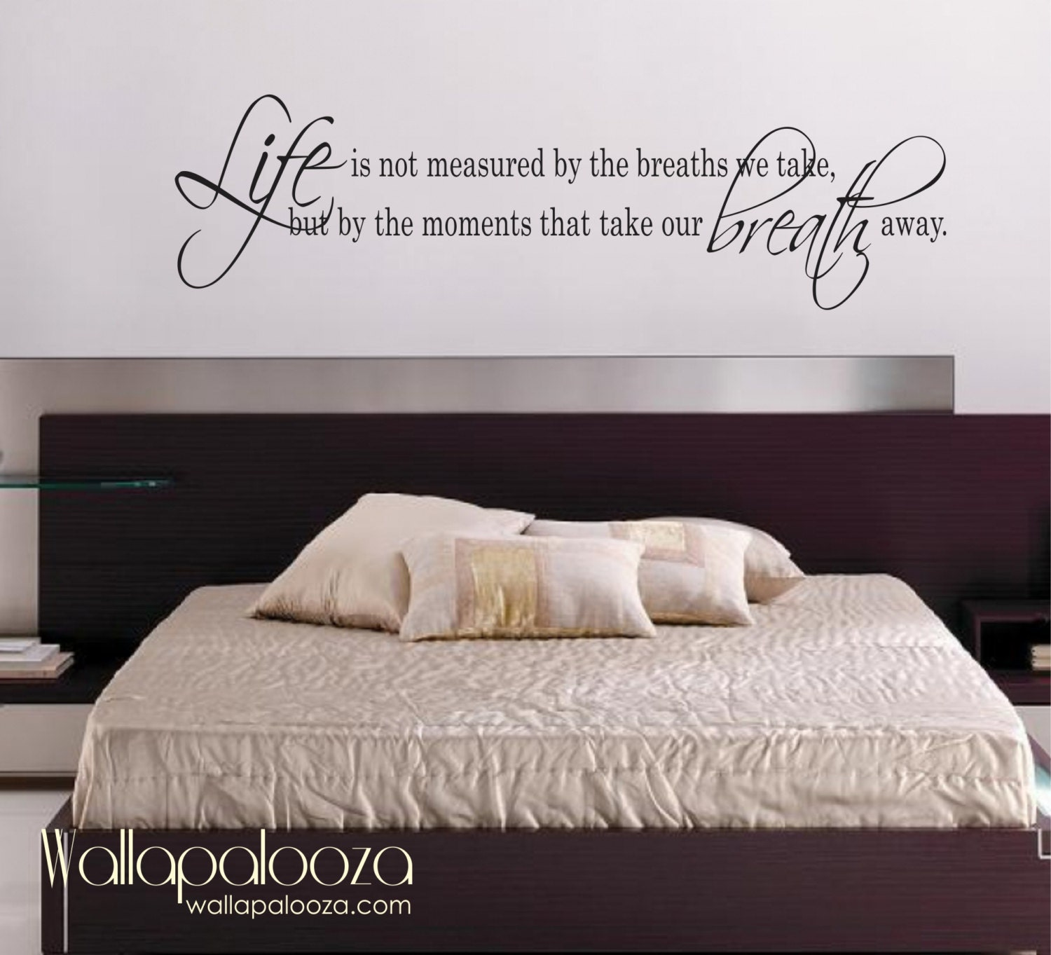 Life Is Not measured wall decal love wall decal bedroom