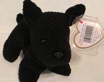 TY Beanie Baby - SCOTTIE the Scottish Terrier - Pristine with Mint Tags -PE Pellets - Retired