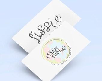 Premade Logo Design | OOAK Logo | Blog Logo Design | Pastel Pink Green Logo | Lifestyle Blog Logo | Wordpress Theme Logo | Blog Branding