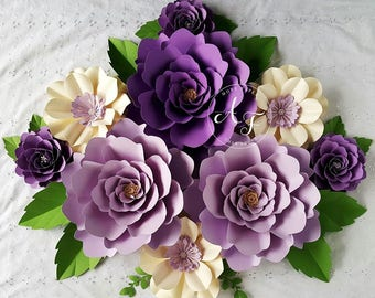 Paper Flowers - Wedding - Photo Prop - Backdrop - Extra Large Flowers - Mix Sizes  - Made To Order