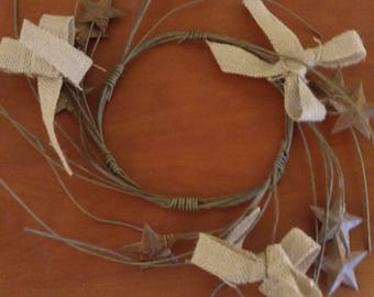 Stars and Burlap candlering