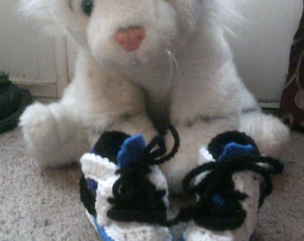 Crocheted Baby Nickies ~ baby booties ~ shoes ~ boy ~ newborn ~ infant ~ 6 months