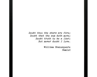 """Printable Quote from """"Hamlet"""" by William Shakespeare 