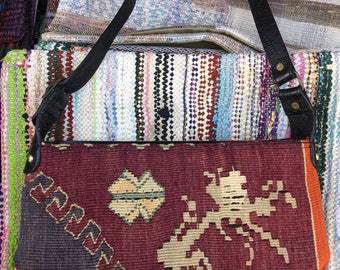 Vintage Handmade Turkish Kilim - Hobo
