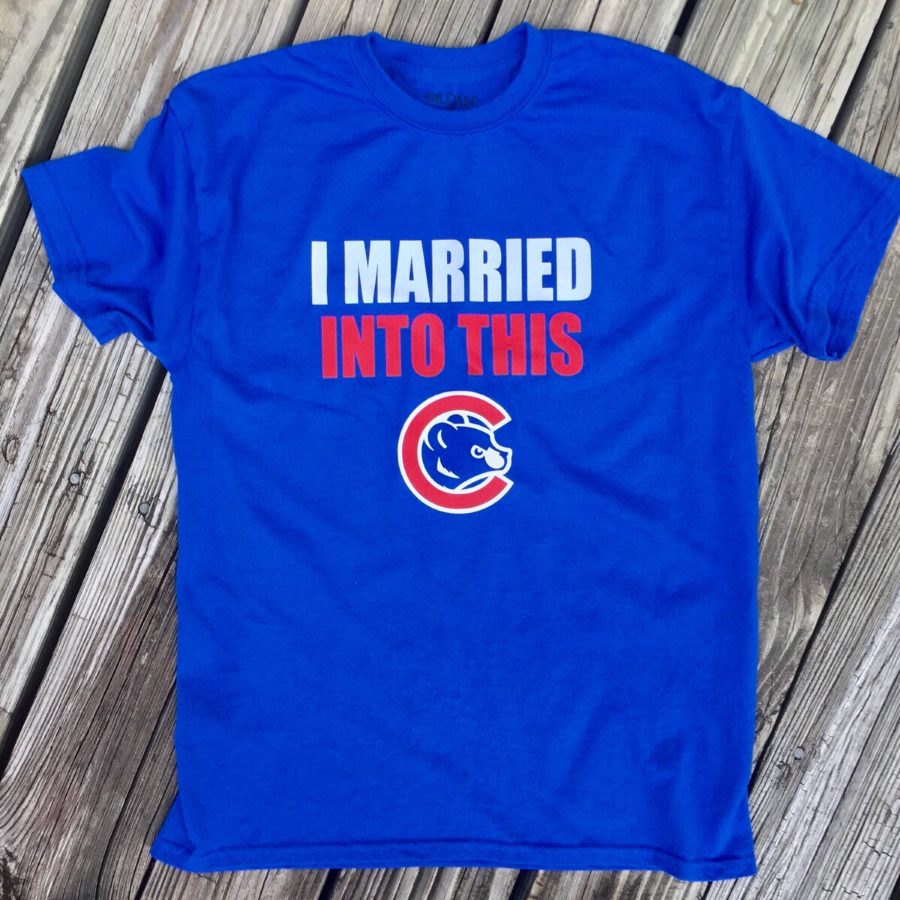 Married Into This Chicago Cubs tee
