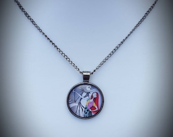 The nightmare before Christmas inspired necklace