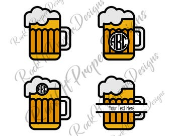 Beer Mug DIGITAL files - scrapbooking, card making, decals, stickers, heat transfer vinyl (htv), and more! SVG and PNG Files.