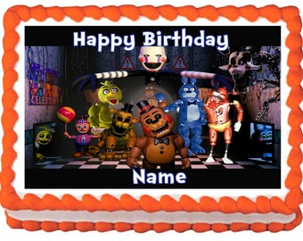 FIVE NIGHTS at FREDDY'S Edible cake topper party image