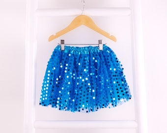 Girls Turquoise Disco Sparkle Tutu/sequin tutu/Party Tutu/ Younger Girl/Bright Glitter/ Gift for Girl /Birthday Outfit