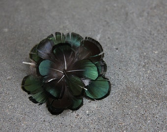 Lady Amherst Pheasant Feather Boutonniere