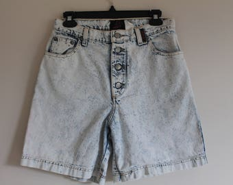 Sale! 80's Sasson Acid Wash Women's High Waisted Denim Jean Shorts