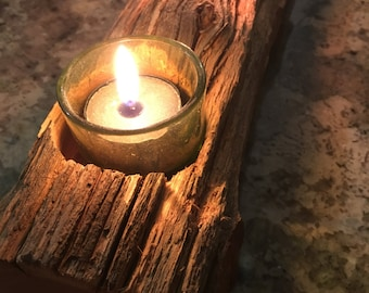 Rustic tea light Holder