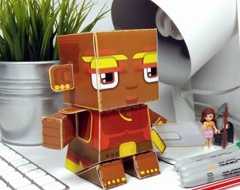 Paper Toy Craft Activity - Tribes Valkyrie Red and Gold - Super craft gift for girls and boys, makes a great party craft activity