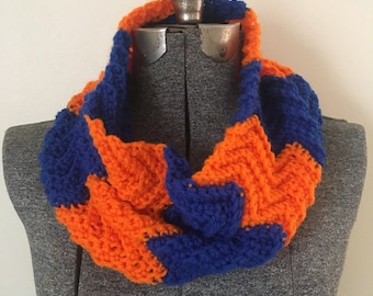 Chevron Cowl - Team Colors - Custom Colors - FC Cincinnati Scarf