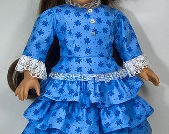 1850s Peplum Top and Skirt for 18 inch dolls such as American Girl
