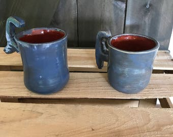 Rustic Blue Cups