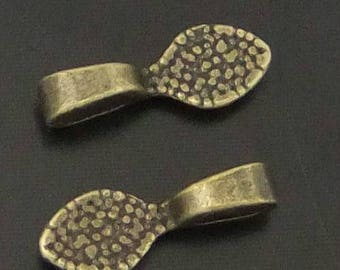 Bail to stick in antique bronze 16 * 6 * 3 mm, set of 20 pcs