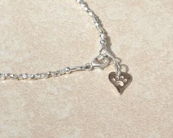 Pet Bracelet, Pet Birthstone Bracelet, Custom Personalized  Dog Bracelet, Beaded Gemstone Bracelet, Gift for Dog Lover, Sterling Silver