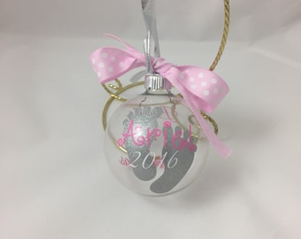 Baby Girl's First Christmas Ornament, Baby Girl, Baby Girl's 1st Christmas, Baby Girl's 1st Christmas Ornament, Baby Girl Gift, Christmas