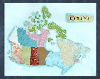 Canada Map Print, Missionary gift