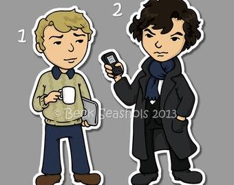 Sherlock Stickers - Sherlock Holmes and Watson
