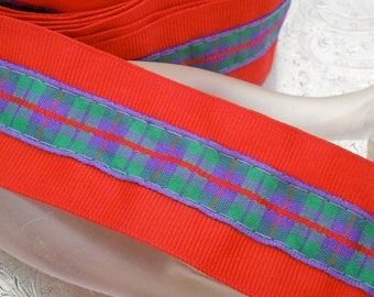 Red and Green Plaid Ribbon Trim