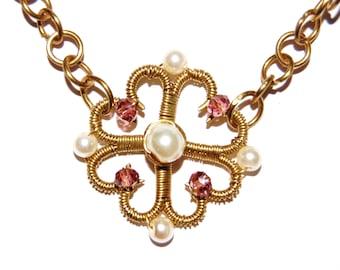 Tudor style Bronze necklace