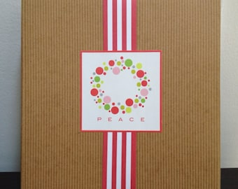 Christmas Wreath Square Labels