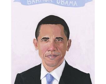 """8x10"""" print - Barack Obama"""