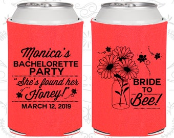Floral Bachelorette Party Favors, Personalized Bachelorette, She found her Honey, Bride to Bee, Bachelorette Favors (60152)