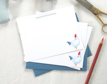 Watercolor Chicken Notecards/ Thank You Cards/ Stationery