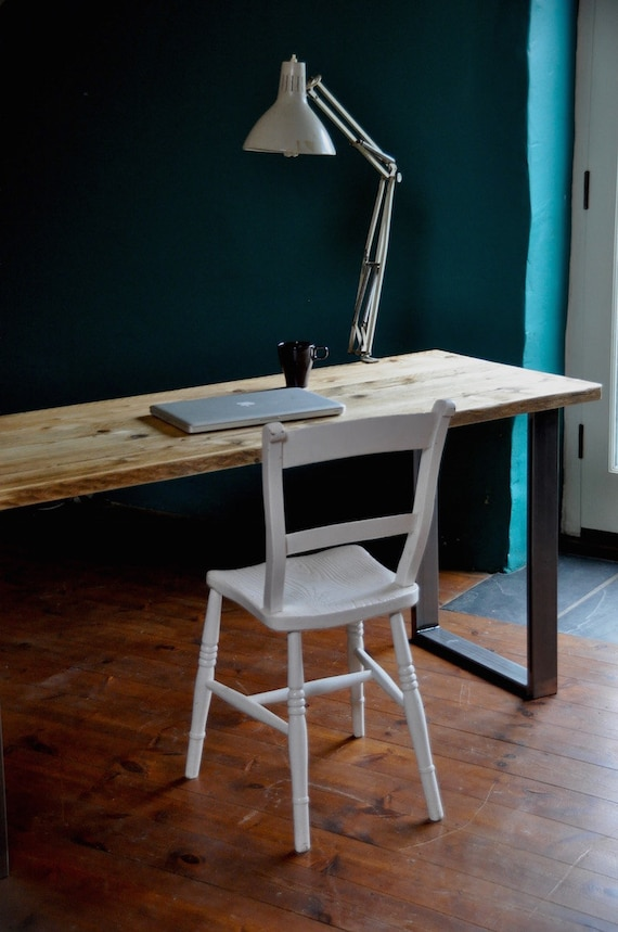 Merveilleux Reclaimed Office Desk Industrial Rustic Table Vintage Scaffold