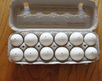 Dozen hollow blown real eggs to color