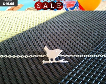 Dickey Tiny Bird on a Branch Silver Bracelet - Best friend gift, Bridesmaid, Gift Idea -SILVER OR GOLD