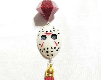 Jason keychain, horror film keychain, horror film purse charm