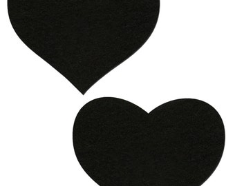 Pasties - Black Heart Nipple Pasties by Pastease® o/s
