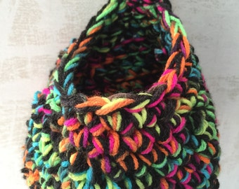 Crochet Hanging Basket, Crochet Doorknob Basket