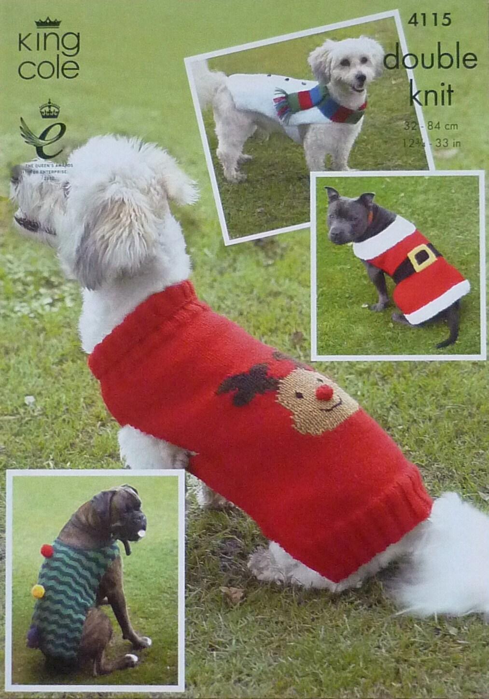 Hunde Mantel Stricken Muster K4115 Hunde Weihnachten Mäntel 4