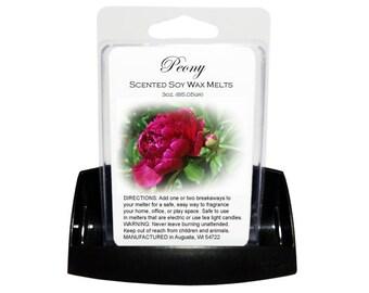 PEONY Soy Melts - Wax Tarts - Soy Tarts - Candle Tarts - Melting Tart - Scented Tart - Tart Melt - Wax Melt - Clamshell - Dye Free