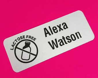 Allergy, Allergy Labels, Peel and Stick Labels, Lactose Free Labels, Allergy, Food Allergy