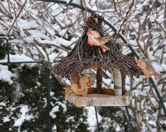 Bird feeder, bird lovers, birdhouses, eco-friendly, outdoor birdhouse, rustic birdhouse, bird houses handmade, bird lover gift, garden decor