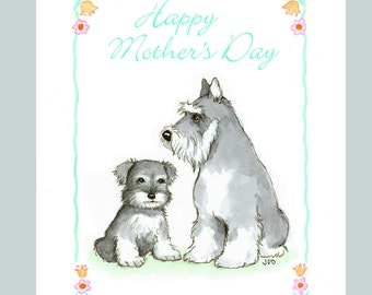 Schnauzer Mother's Day Card